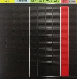 3850BL/RD- #3 size T-card rack, 400 card capacity BLACK&RED