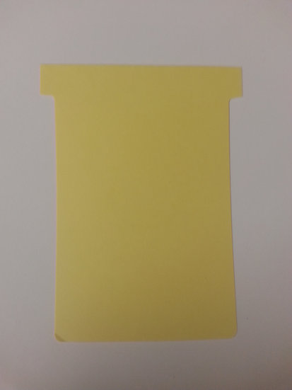 #3 SIZE T-CARDS, BLANK, 500 pack (choose color)