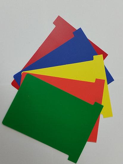 #3 size PLASTIC T-cards- MULTI pack