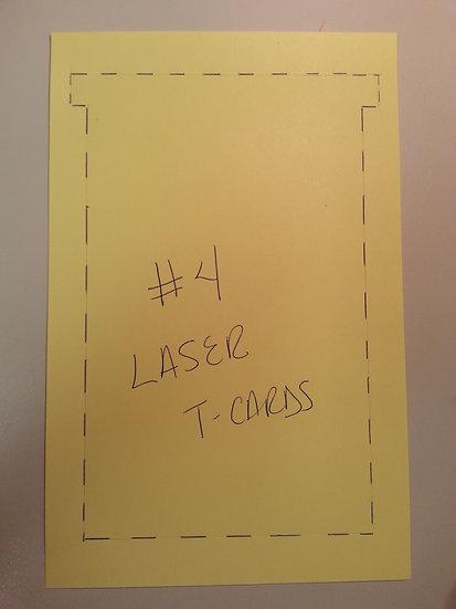 #4 SIZE LASER T-CARDS, BLANK, 1-up, 500 pack (color?)