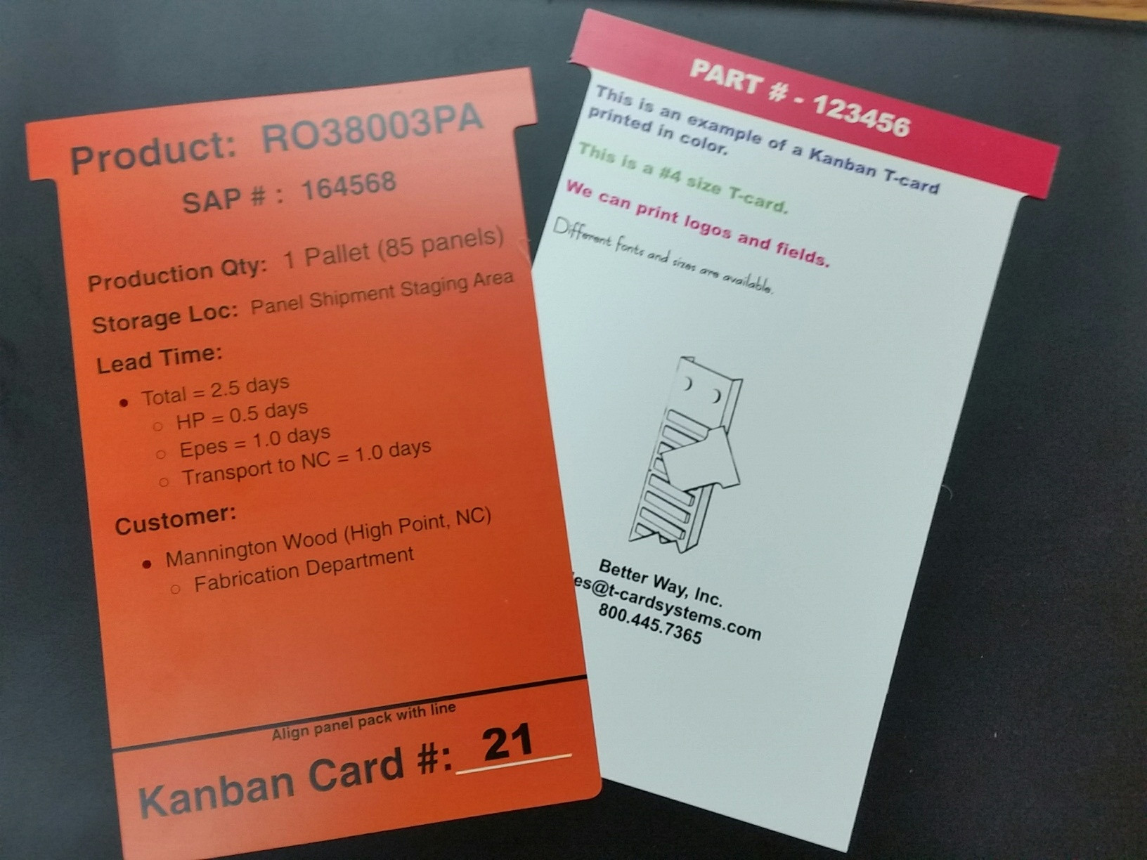 T-cards now available in synthetic paper.