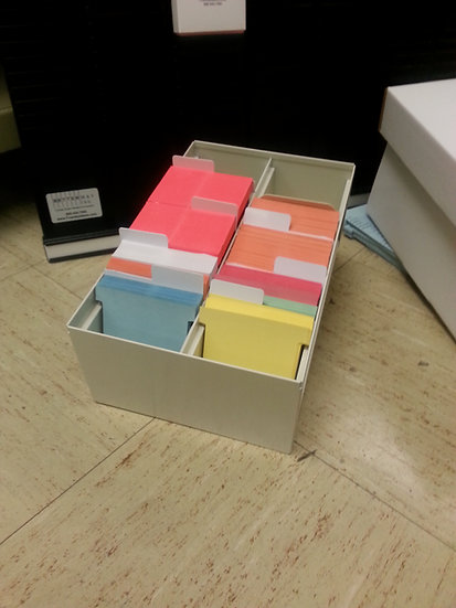 #3 size FILING TRAY with indexes- 2500 card capacity