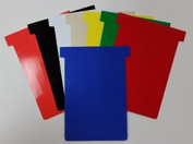 Plastic T-cards in COLOR are a durable and can be written on with dry-erase markers.