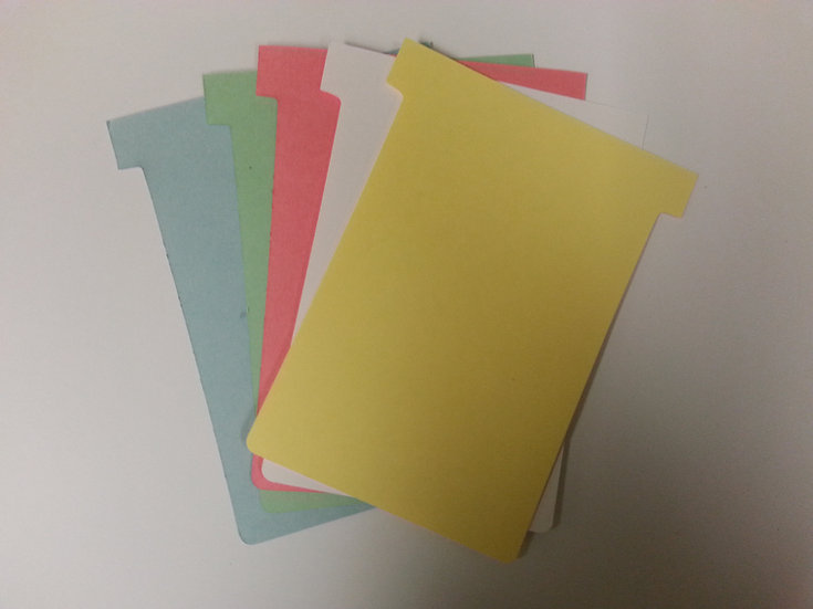 #3 SIZE T-CARDS, BLANK, 1000 MULTIPACK