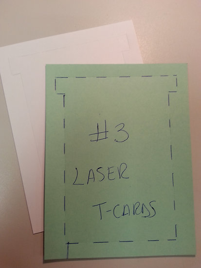 #3 SIZE LASER T-CARDS, BLANK, 500 pack (choose color)