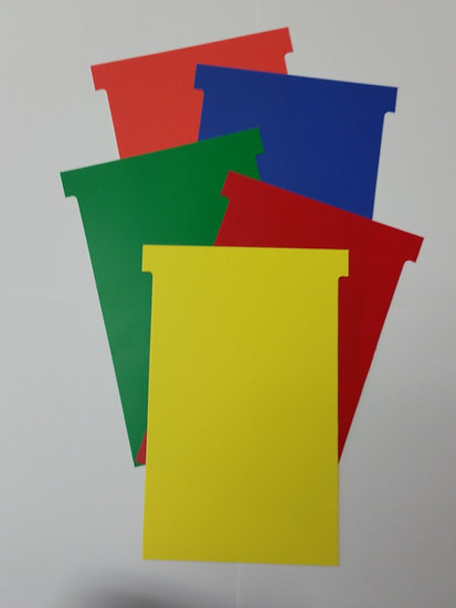 #4 SIZE PLASTIC T-CARDS, 20 MULTI PACK