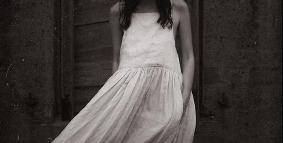 Handmade Linen Pinafore Dress - natural