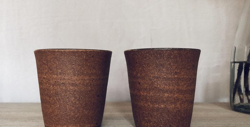 Coffee Beaker - cappucino/ latte  in rust