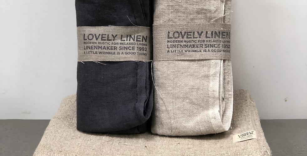 Lovely Linen - Hamman towels - Natural or Dark grey