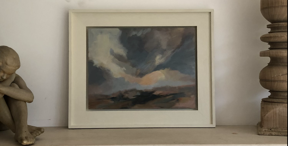 Oil painting by Sarah Weedon - Sun Down