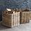 Thumbnail: Garden Trading Rattan Square Basket - Small