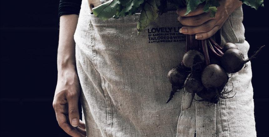 Linen Bistro Apron - natural