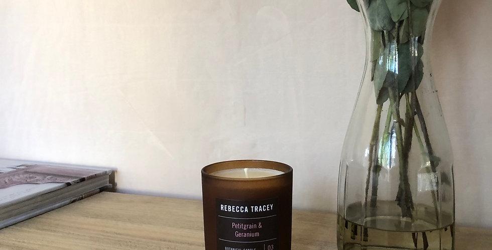 Pettigrain and geranium candle