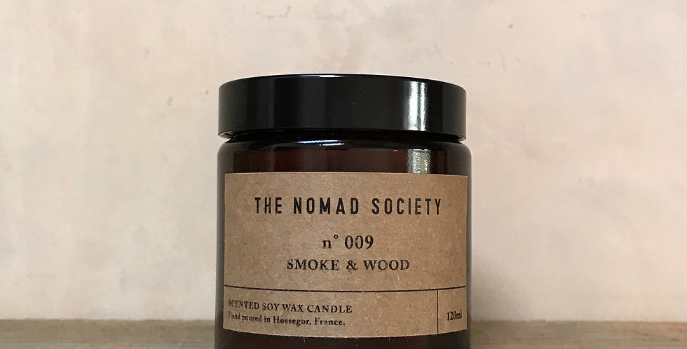 SMOKE & WOOD - Soy Candle - 120ml