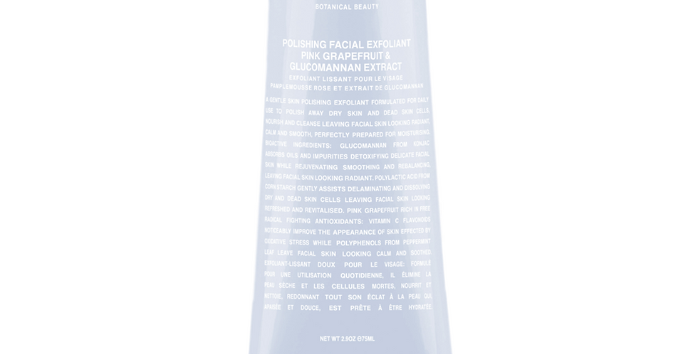 Polishing Facial Exfoliant -  Pink Grapefruit & Glucomannan Extract - 75ml