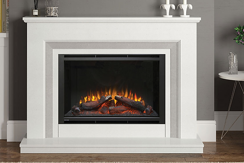 Cassius Marble Electric Fireplace