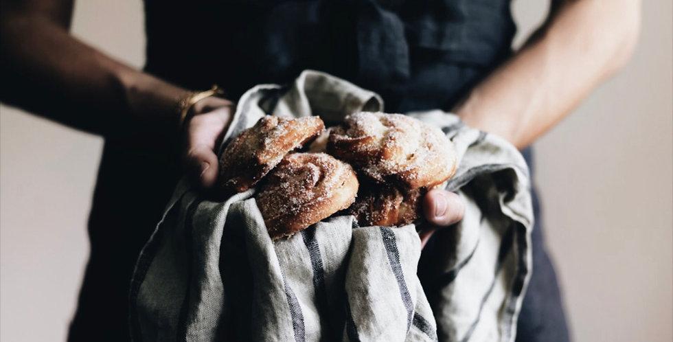 Linen bistro apron - dark grey