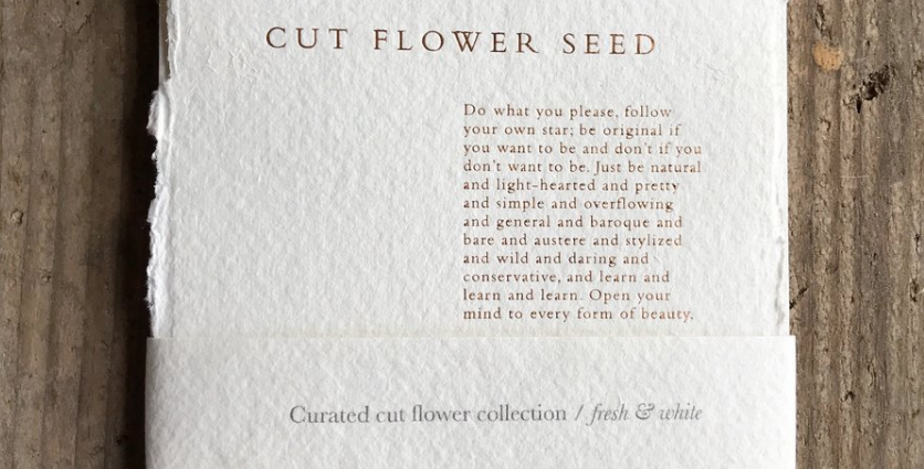 Curated cutting garden seeds - White & Fresh