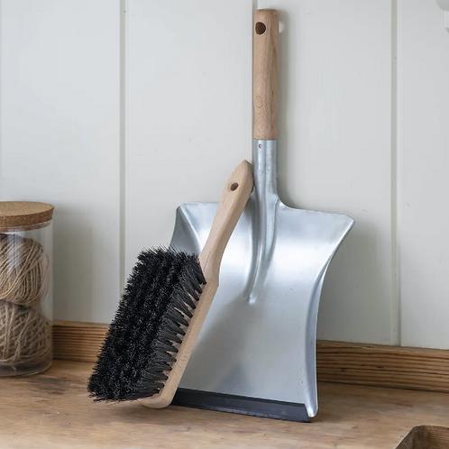 Garden Trading Galvanised Dustpan and Brush