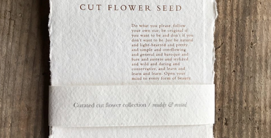 Curated cutting garden seeds - Muddy & Muted