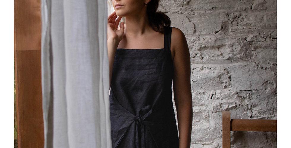 Handmade Black wrap dress
