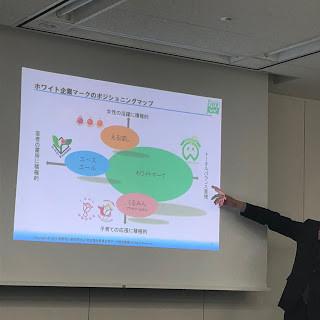 白色企業標章顯示為顧及公司各方面基本需求