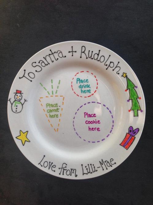 Personalised Santa Christmas Eve Plate Personaliedchristmas