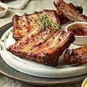 Свиные ребрышки гриль с домашним соусом BBQ
