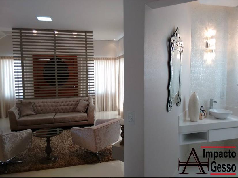 Iluminação-e-projeto-de-gesso-modernos-para-sala-de-estar-elavabo-Impacto-gesso-Jundiaí