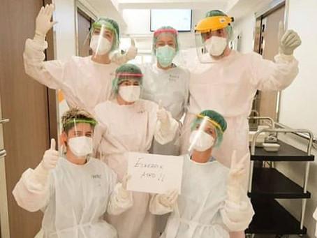 Asuncion Klinikako osasun-langileak babesteko Euskadin egindako zipriztin-aurkako bisera solidarioak