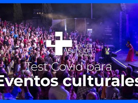 Cultura y música libre de Covid con nuestros test a los invitados