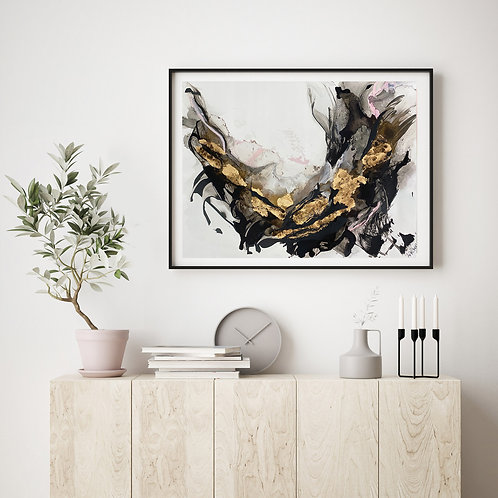 Free Falling| FRAMED LIMITED EDITION EMBELLISHED PRINT | FRAMED