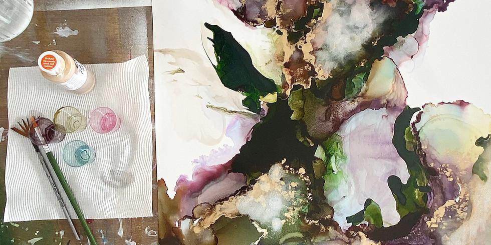 Let it Flow - Champagne &  Fluid Art - Saturday 19th June