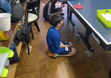アイリス卓球場・ジュニア練習風景‼