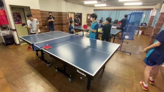 アイリス卓球場・ジュニアチームの多球練習‼~ジュニア練習風景~
