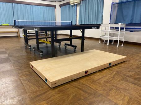 横須賀アイリス卓球場の小学1、2年生のためのバンビ台!
