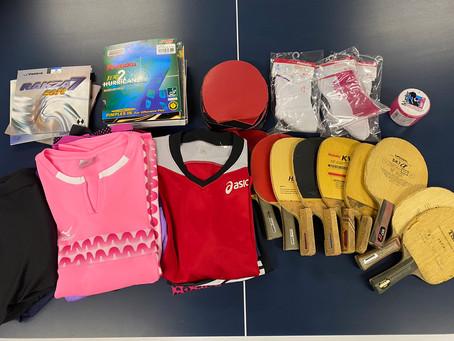 中南米に卓球用品を送るために用具を集めています!!