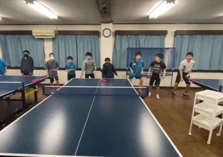 アイリス卓球場ジュニア練習風景‼トレーニング編