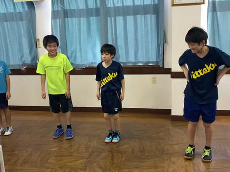 横須賀のアイリス卓球場のジュニア練習風景‼トレーニング編‼
