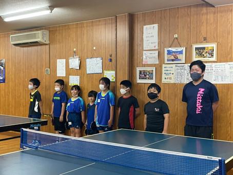 アイリス卓球場のジュニアの初級者クラスが梅屋敷卓球場さんと合同練習会をしました‼