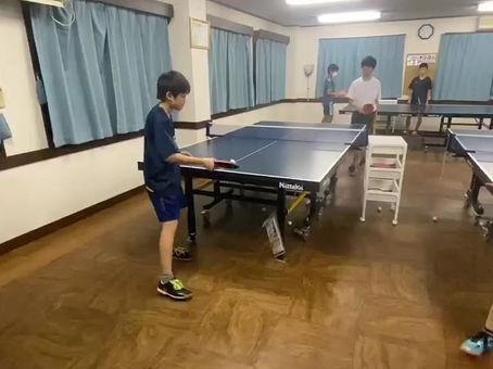 横須賀のアイリス卓球場のジュニアチーム練習風景‼