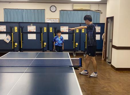横須賀アイリス卓球場にわったさんが来てくださり、撮影とジュニア指導!