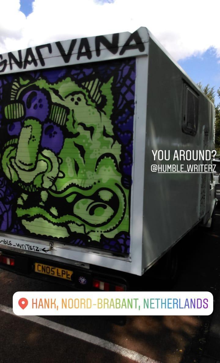 graffiti van spray paint
