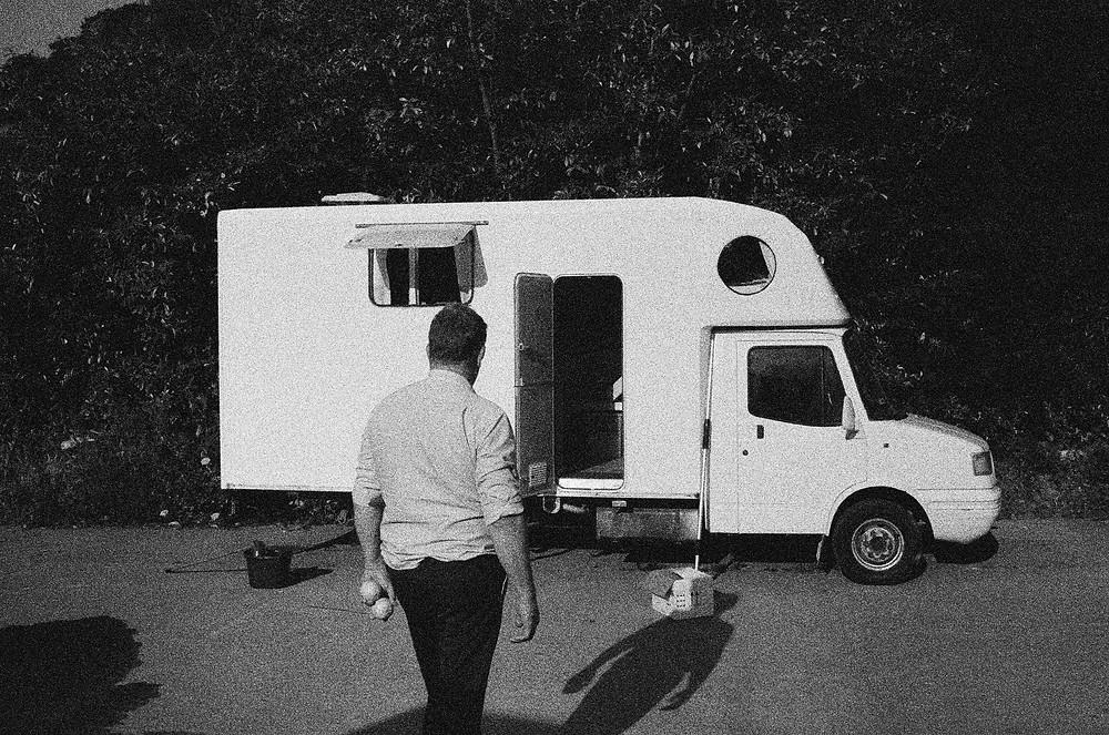 DIY campervan black and white film