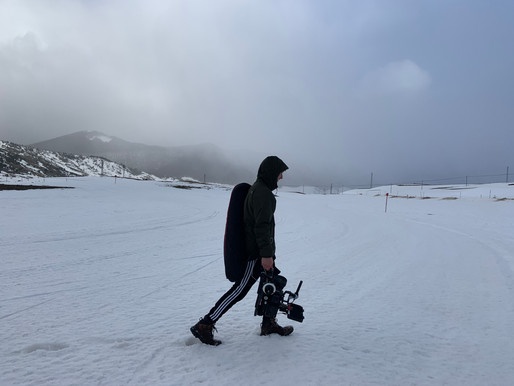 Filming In The Italian Mountains