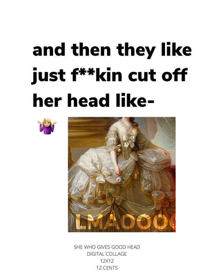 SHE WHO GIVES GOOD HEAD