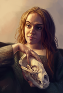 Portraiture with Bear Skull