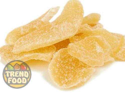 Имбирь цукаты листики в сахаре