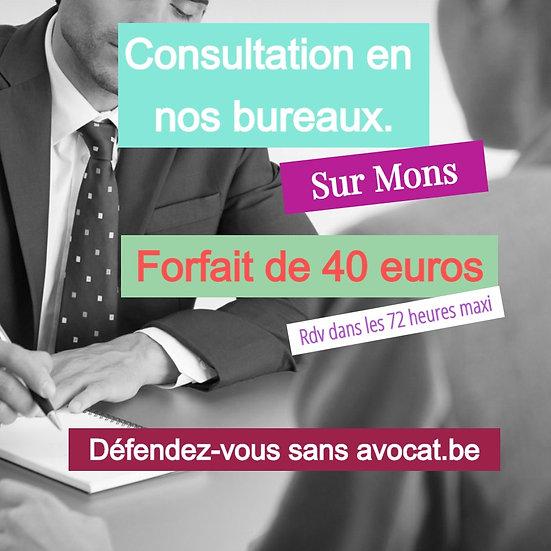 En nos Bureaux, consultations juridiques.