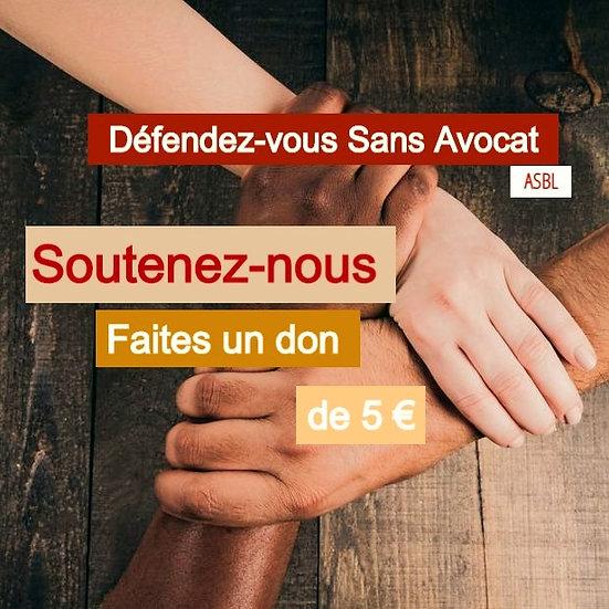 Faites un don de 5 euros - soutenez-nous.